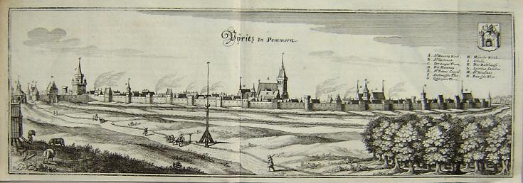 """(PYRZYCE). Pyritz. """"Pyritz in Pommern""""."""